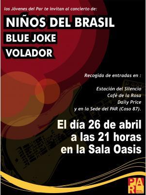 EL ROLDE TE INVITA A UN CONCIERTO CON NIÑOS DEL BRASIL, VOLADOR Y BLUE JOKE.